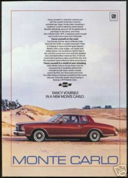 Chevrolet Monte Carlo Vintage Car Photo (1979)
