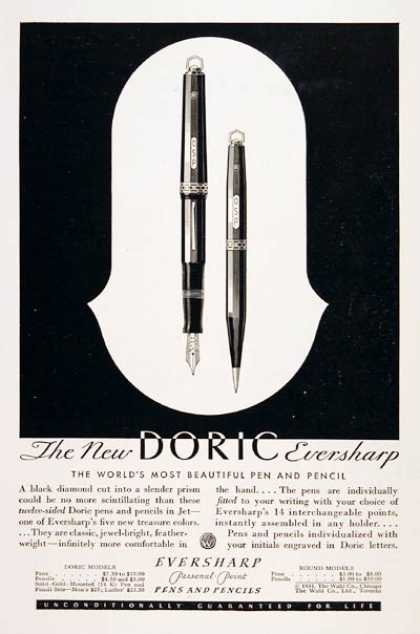 Doric Eversharp Pen & Pencil (1931)