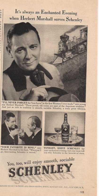 Schenley Great Whiskey (1951)