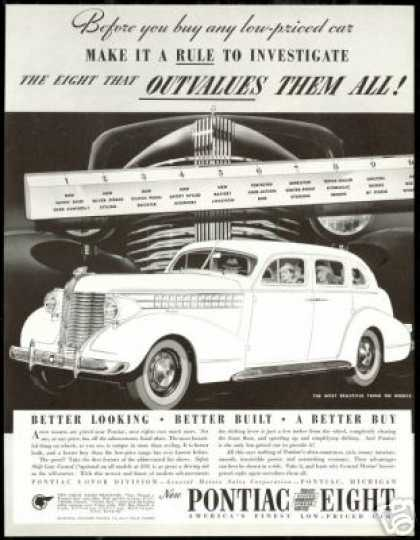 Pontiac Eight Better Car Vintage (1938)