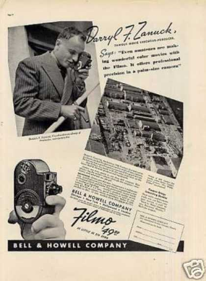 Bell & Howell Filmo Camera Ad Darryl F. Zanuck (1937)