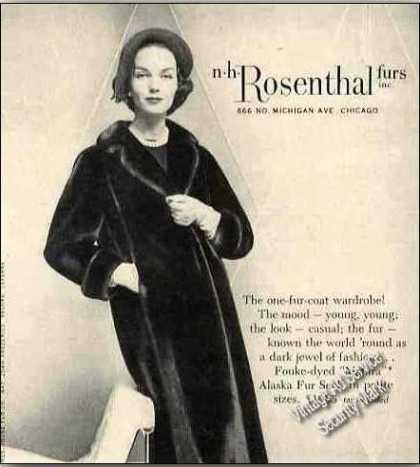 Alaska Fur Seal Coat By Rosenthal Furs Chicago (1957)