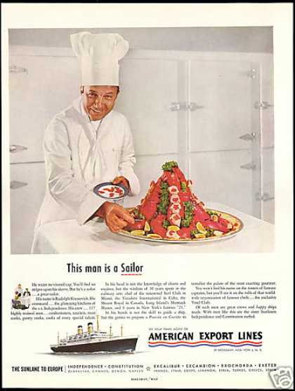 American Export Lines Chef Rudolph Kressevich (1954)
