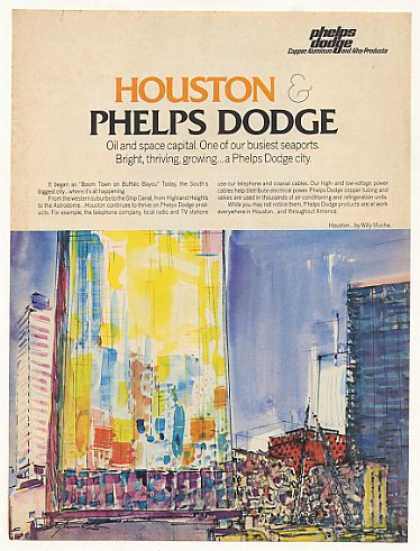 Phelps Dodge Houston Willy Mucha art (1971)