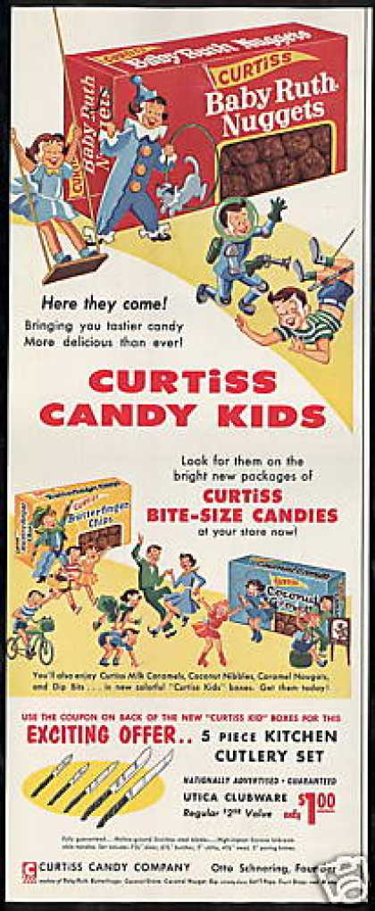 Curtiss Candy Kids Boxes Baby Ruth Nuggets (1955)