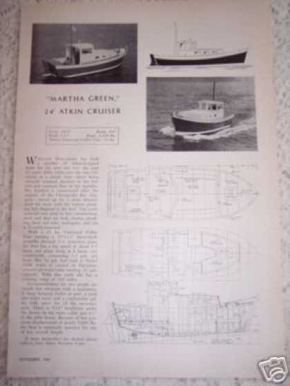 Boat Design 24' Atkin Cruiser (1964)
