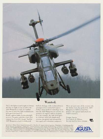 Agusta A129 Mangusta Helicopter Photo (1985)