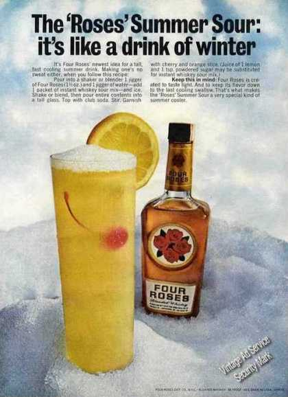 Four Roses Summer Sour Collectible Recipe (1968)