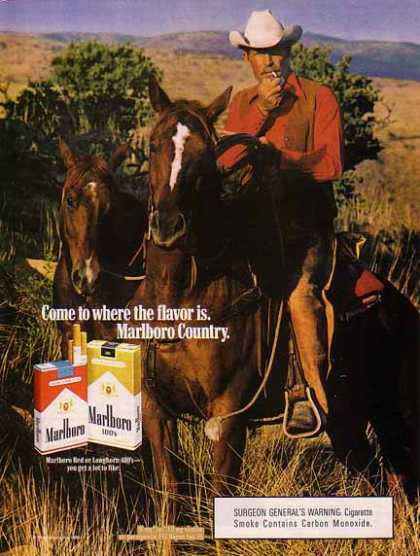 Marlboro Cigarettes – Cowboy on the trail (1986)