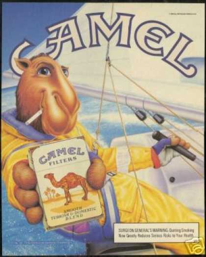 Joe Camel Sailboat Sailing Cigarette (1990)