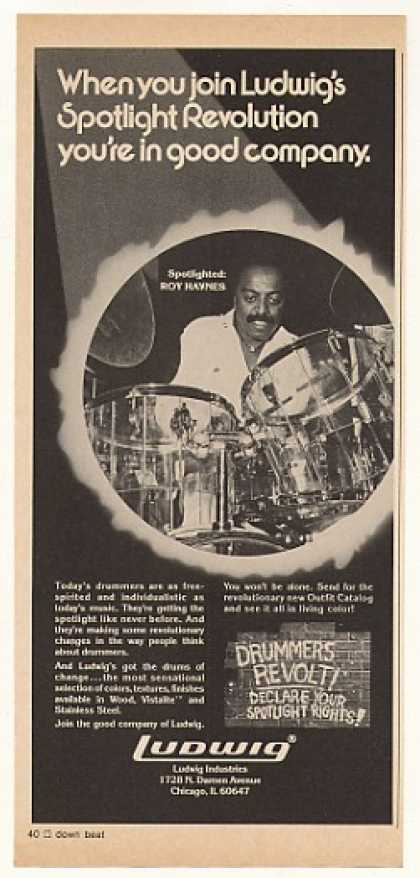 Roy Haynes Ludwig Drums Photo (1976)