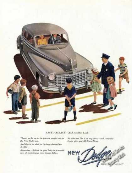 Dodge Car Advertising Nice Art (1947)