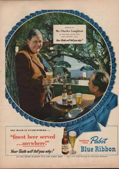 Charles Laughton Pabst Blue Ribbon Beer (1949)