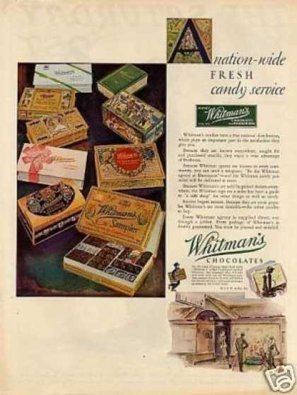 Whitman's Chocolate Candy Color (1931)