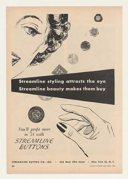 Streamline Buttons Styling Beauty (1954)