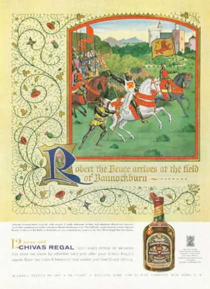 Chivas Regal Scotch Whisky Ad Bruce Bannockburn (1959)