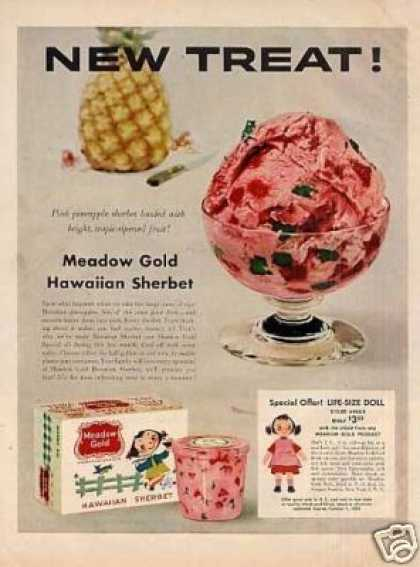 Meadow Gold Hawaiian Sherbet (1955)
