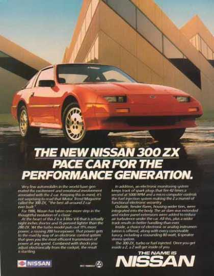 Nissan 300ZX Car – Pace Car For The Performance Generation (1987)