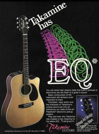 Takamine Guitars Colorful Rare (1985)