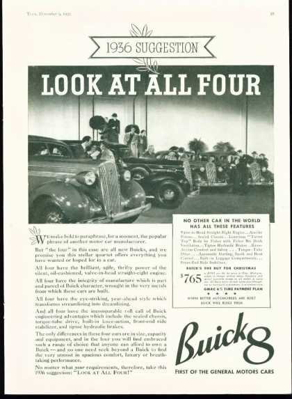 Buick 8 for Art Deco 1935 Ad – First of Gm Cars (1936)