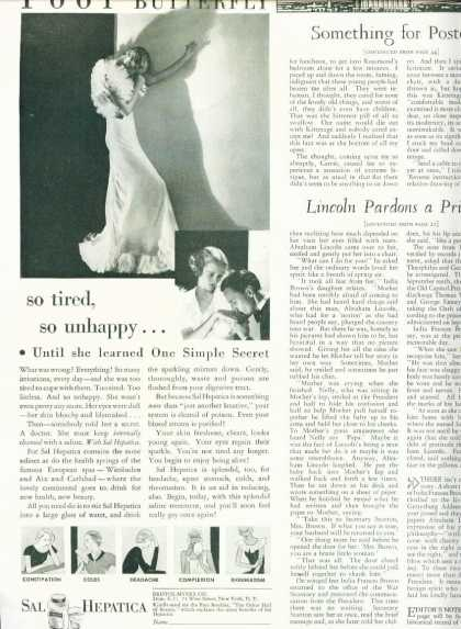 Sal Hepatica Laxative Poor Butterfly 1/2 Pg (1933)