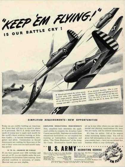 "Us Army Recruiting Service ""Keep 'em Flying!"" (1942)"