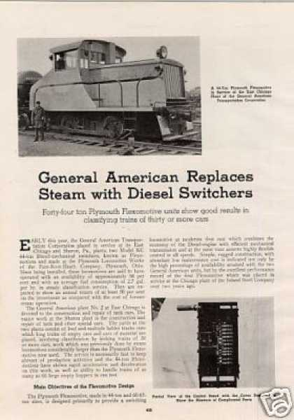 """Gatx Replaces Steam With Diesel Switchers""Artic (1939)"