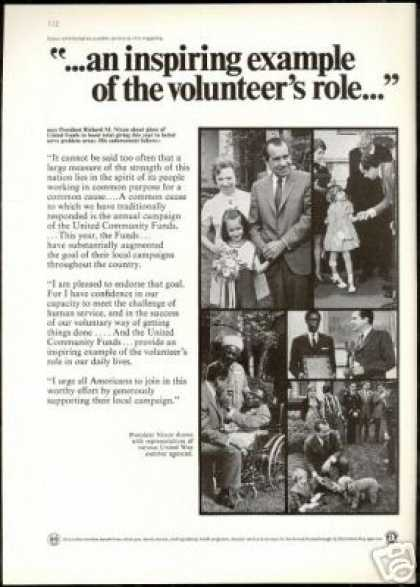Richard Nixon Photos United Community Funds (1969)