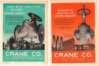 Crane Company Ads – Set of 2 (1951)