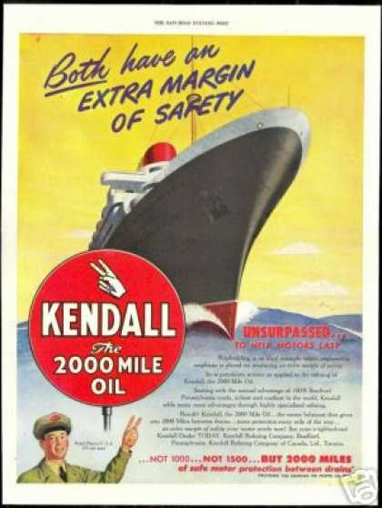 Ship Art Kendall Refining Oil Company (1946)