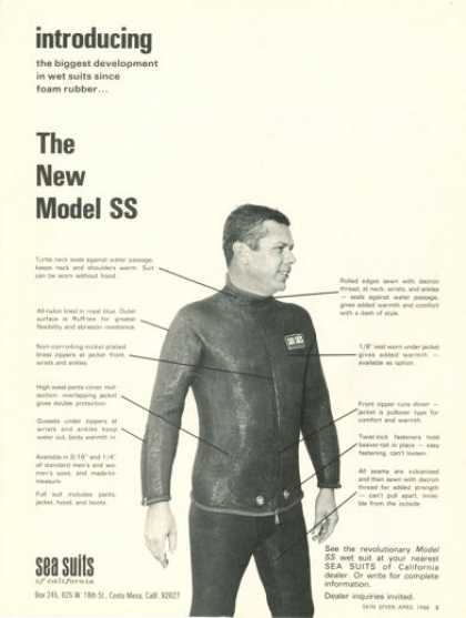 Sea Suits California Model Ss Wet Suit (1968)