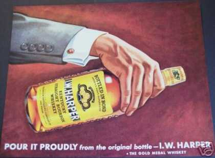 I. W. Harper Bourbon Whisky Bar Art (1940)