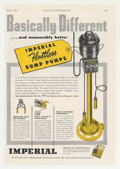 Imperial Floatless Sump Pump (1947)