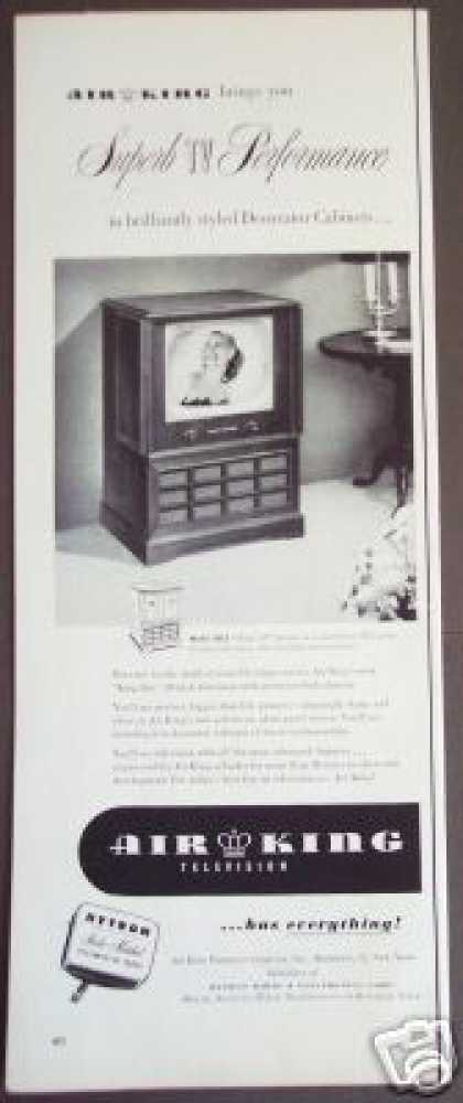 Air King Console Tv Television Model 20c2 (1951)