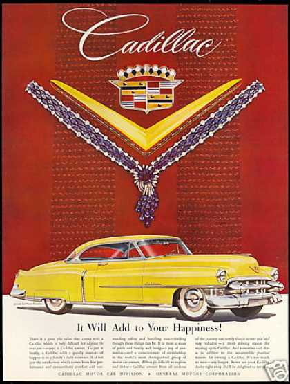 Yellow Cadillac Car Harry Winston Jewels (1954)