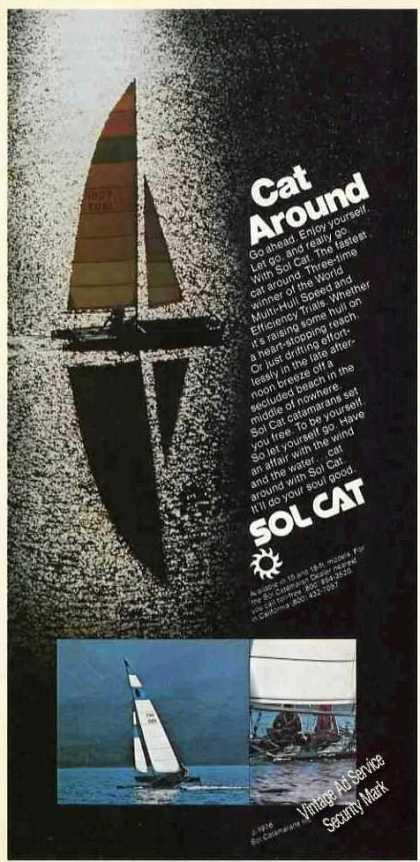 "Sol Cat Catamaran Photos ""Cat Around"" Boat (1976)"