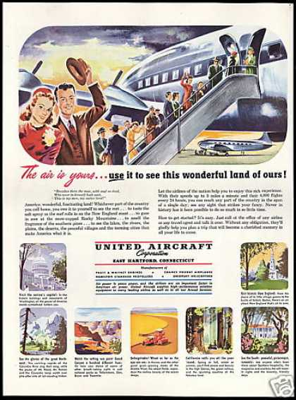 United Aircraft Corporation Nations Airlines (1949)