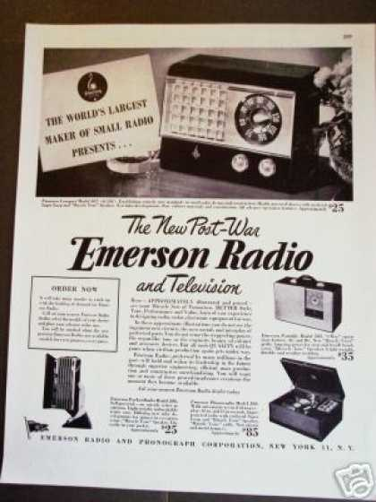Emerson Post-war Radio Tv Record Player (1945)