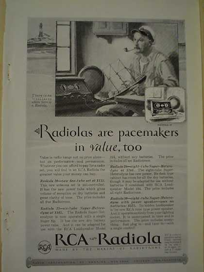 RCA Radiola AND Raymond Whitcomb Cruise Co Mediterranean (1926)