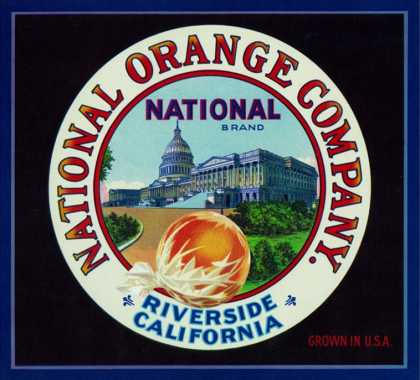 Riverside, California, National Brand Citrus Label