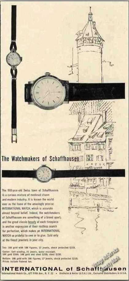 International of Schaffhausen Watchmakers (1957)