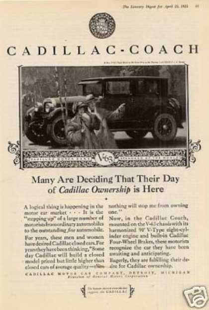 "Cadillac Coach Ad ""Many Are Deciding... (1925)"