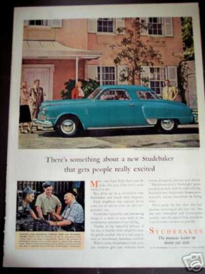 Studebaker Commander Blue Car Photo (1947)