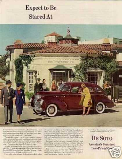 "Desoto Car Color Ad ""Expect To Be Stared At... (1939)"