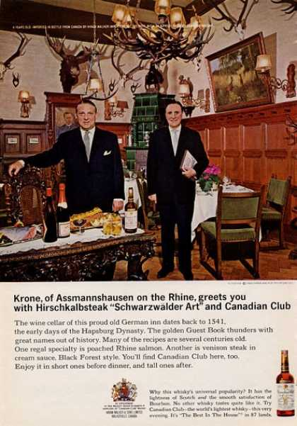 Canadian Club Hirschkalbsteak (1965)