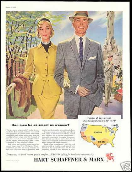 Hart Schaffner & Marx Suit Fashion Art (1956)