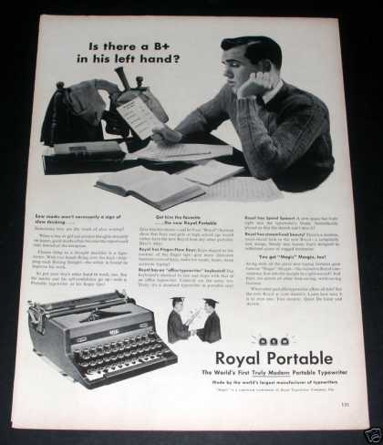 """Royal Portable Typewritte (1949)"