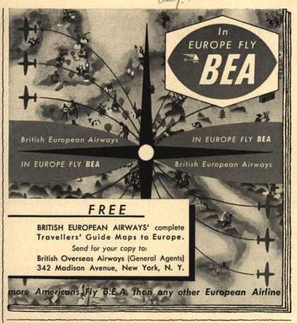 British European Airways – In Europe, Fly BEA (1951)