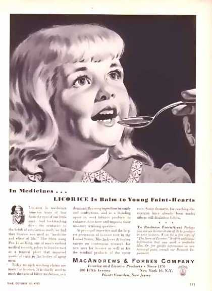 MacAndrews & Forbes Company Licorice for Faint Hearts (1952)