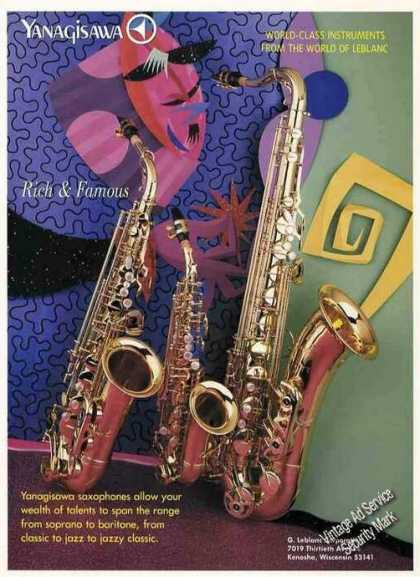 Yanagisawa Saxophones From Leblanc Photos (1987)